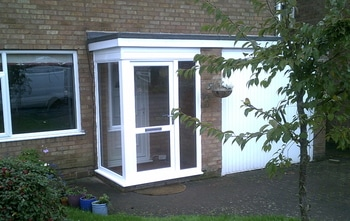Double glazed L shape porch
